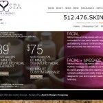 Skin Spa Austin Ecommerce Site
